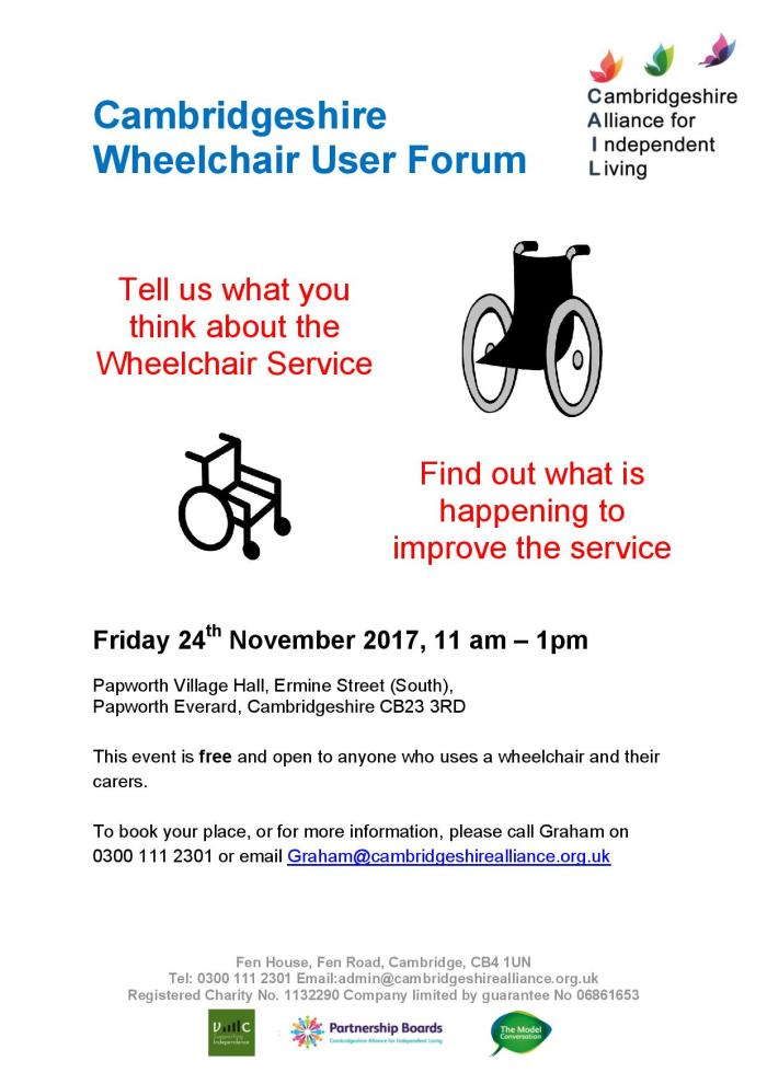 November Wheelchair User Forum 2017 poster A4-page-001